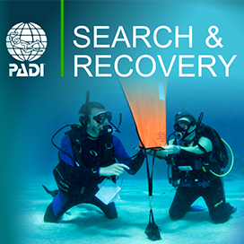 Search and Recovery of underwater objects. PADI Specialty