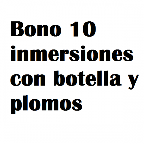 bono 10 inmersiones