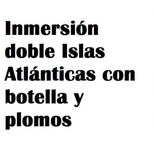 inmersion doble atlanticas botella polomos