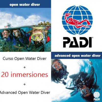 Open Water Diver + Advanced + 20 dives