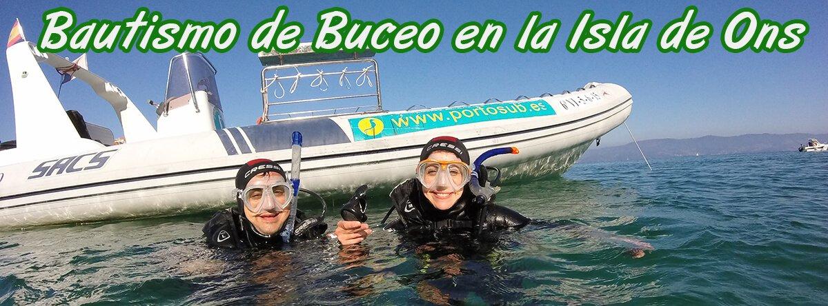 Bautismo de Buceo en la Isla de Ons con Portosub