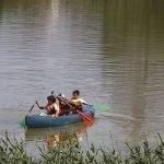 Canoa estudiantes de colegio
