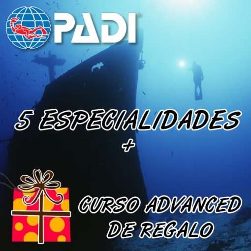 5 especialidades + regalo curso advanced