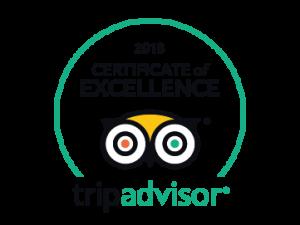Certificado de Excelencia 2018 Tripadvisor