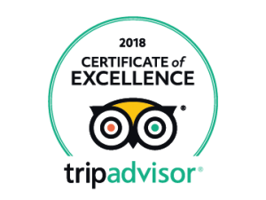 Certificate of Excellence 2018 Tripadvisor