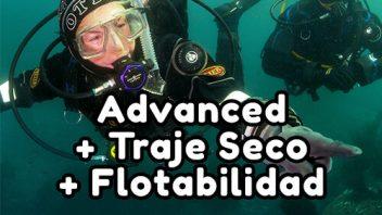 PADI Avanzado + Traje Seco + Flotabilidad
