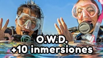 Pack Inicio al Buceo: Open Water Diver + 10 inmersiones